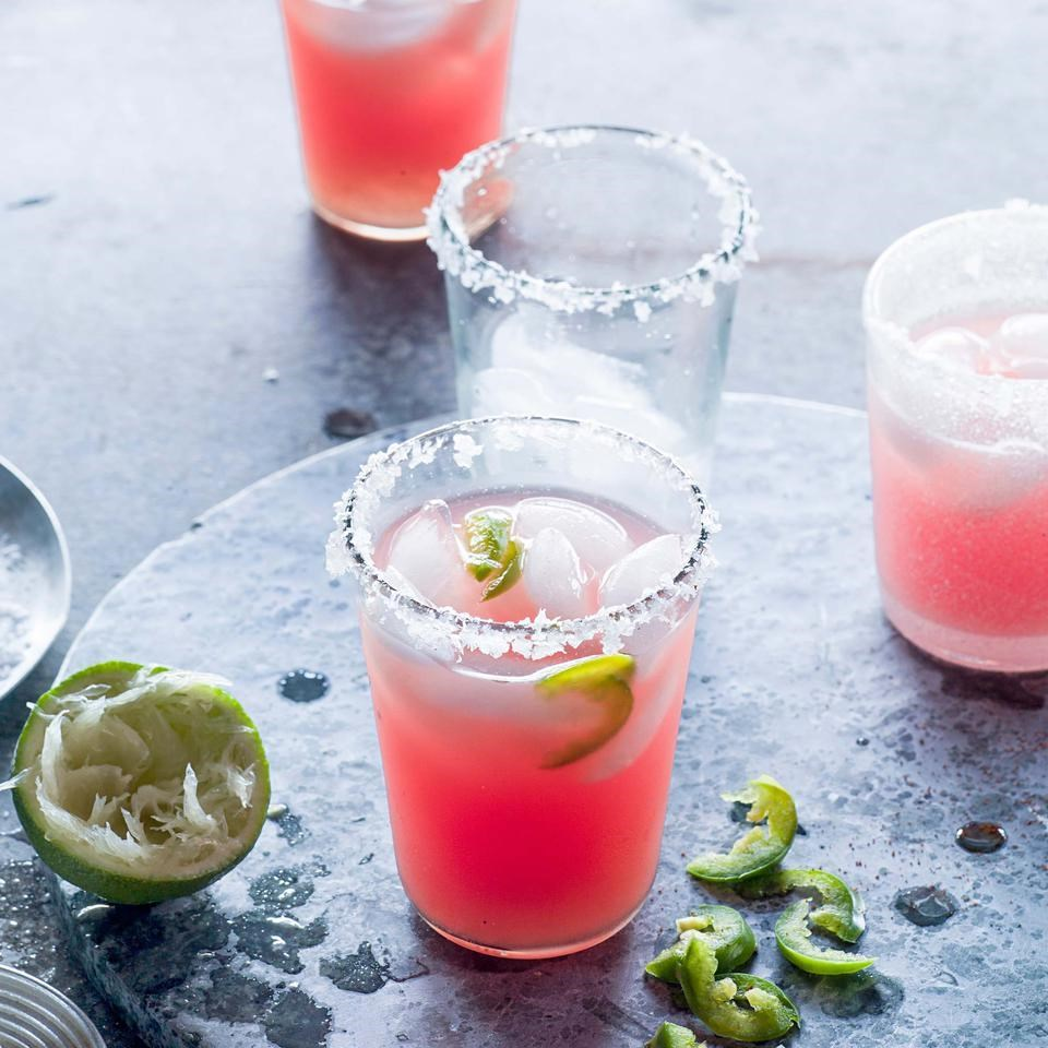 Jalepeno-Watermelon Margarita