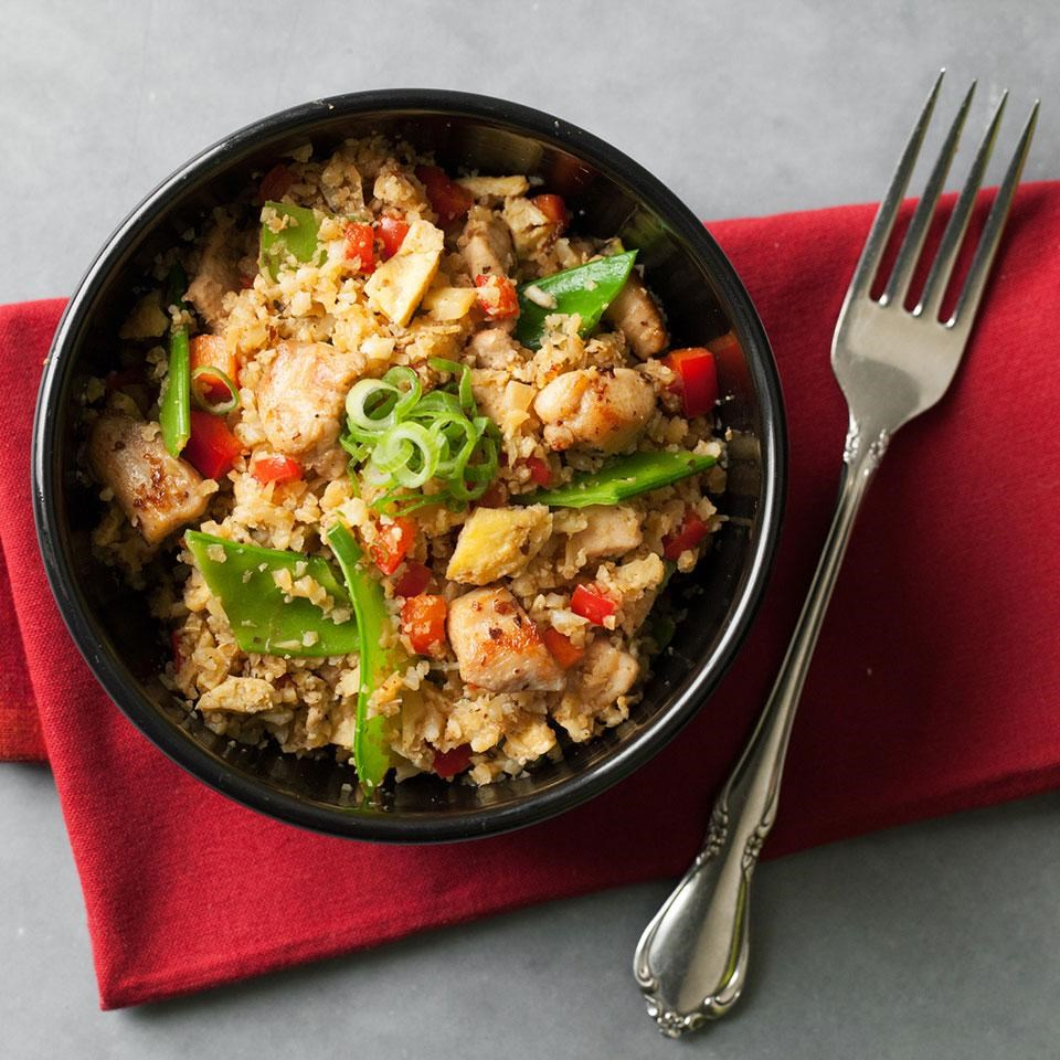 Cauliflower Chicken Fried Quot Rice Quot Recipe Eatingwell