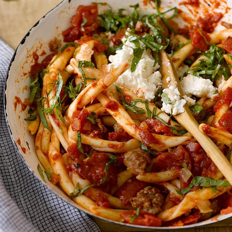 Macaroni with Sausage & Ricotta Recipe - EatingWell