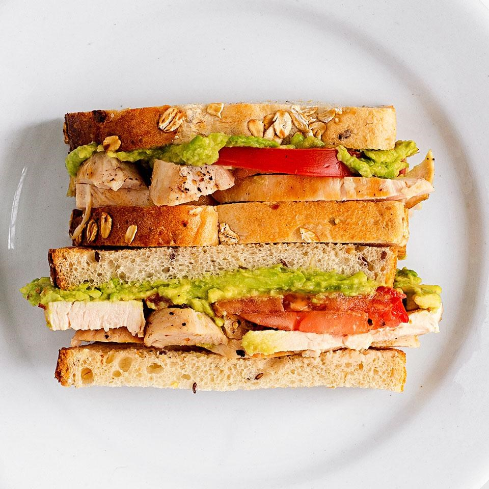 Avocado Tomato Amp Chicken Sandwich Recipe Eatingwell