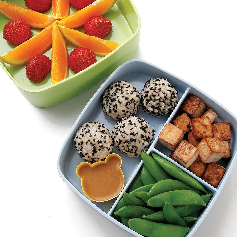 soy lime tofu rice bento lunch recipe eatingwell. Black Bedroom Furniture Sets. Home Design Ideas