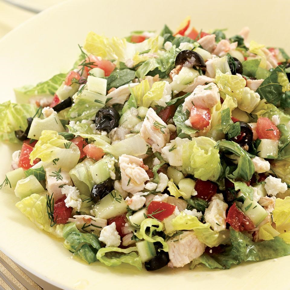 Chopped Greek Salad With Chicken Recipe Eatingwell