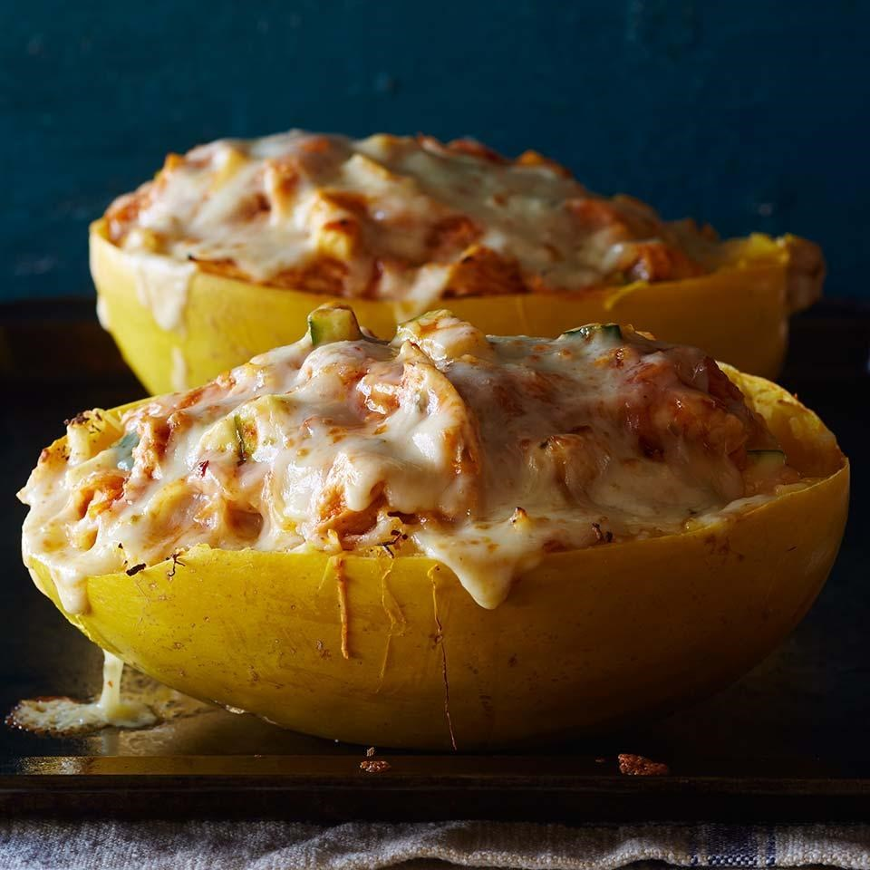 Chicken Enchilada Stuffed Spaghetti Squash Recipe Eatingwell