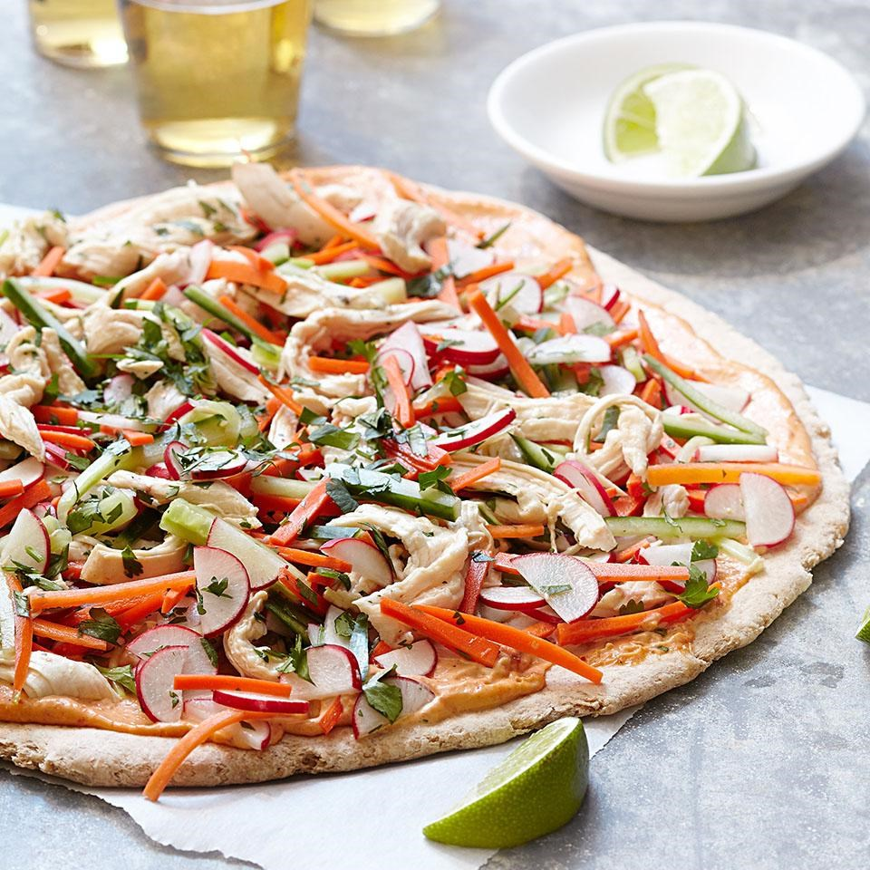 Chicken Banh Mi Pizza