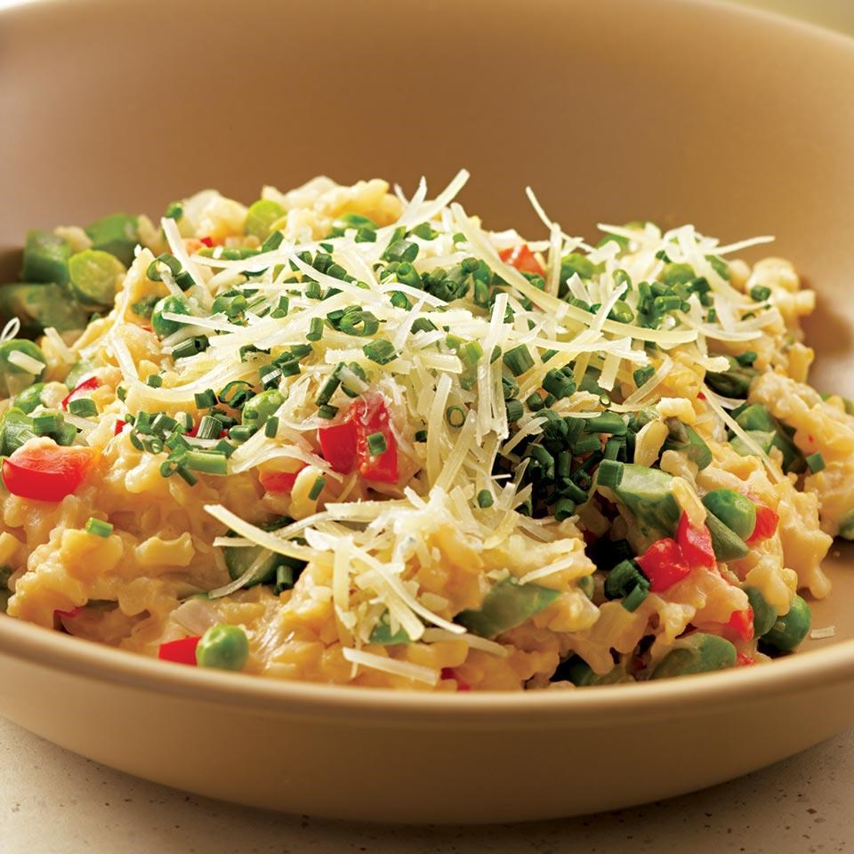 Chicken Dishes Over Rice: Mock Risotto Recipe