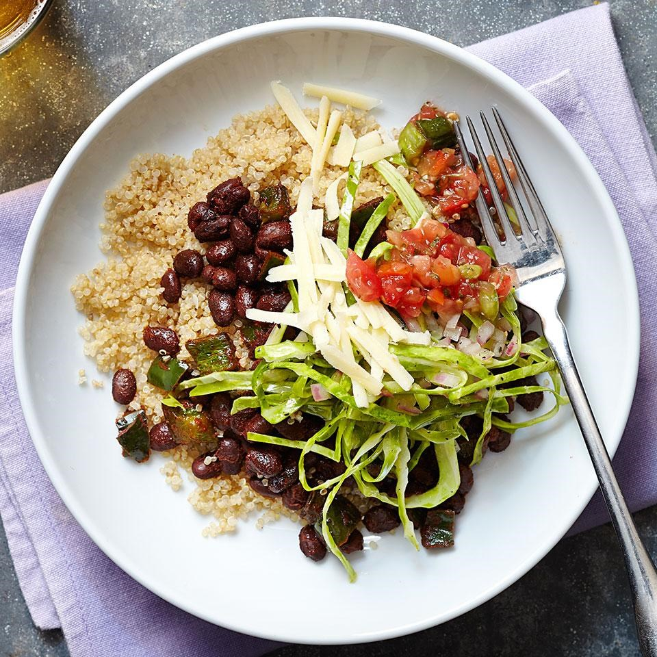black bean and quinoa burrito bowls