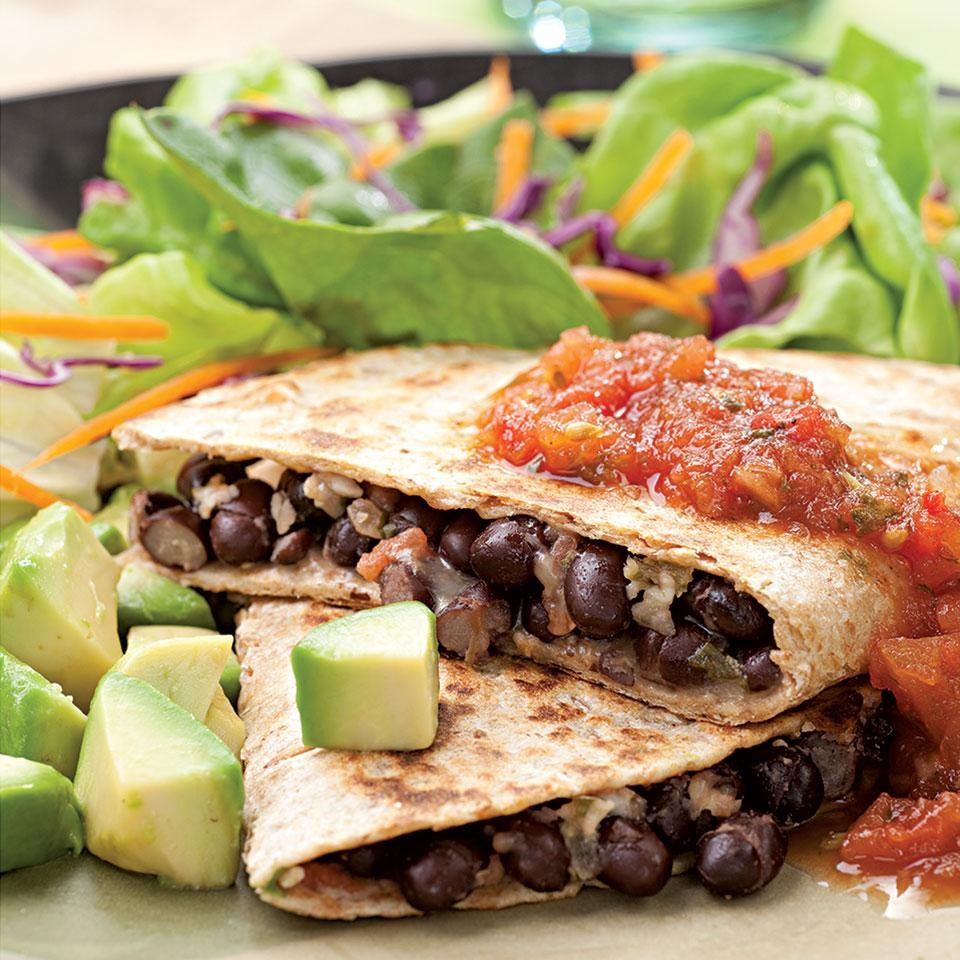 Black Bean Quesadillas</strong></a><br>• 6 whole-grain tortilla chips</p>