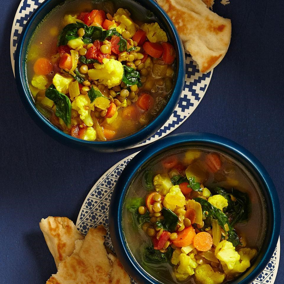 Slow Cooker Moroccan Lentil Soup Recipe Eatingwell