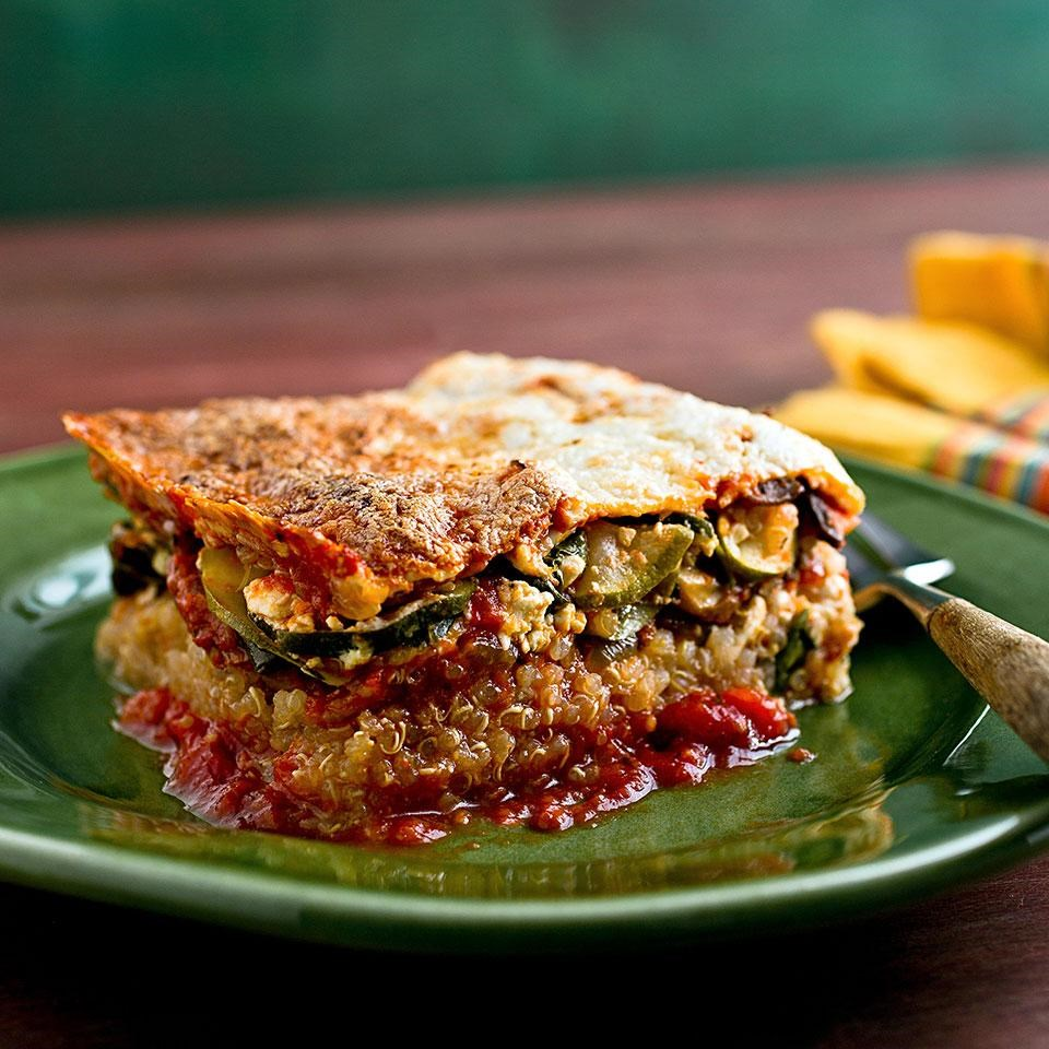 Quinoa lasagna recipe eatingwell quinoa lasagna forumfinder Image collections