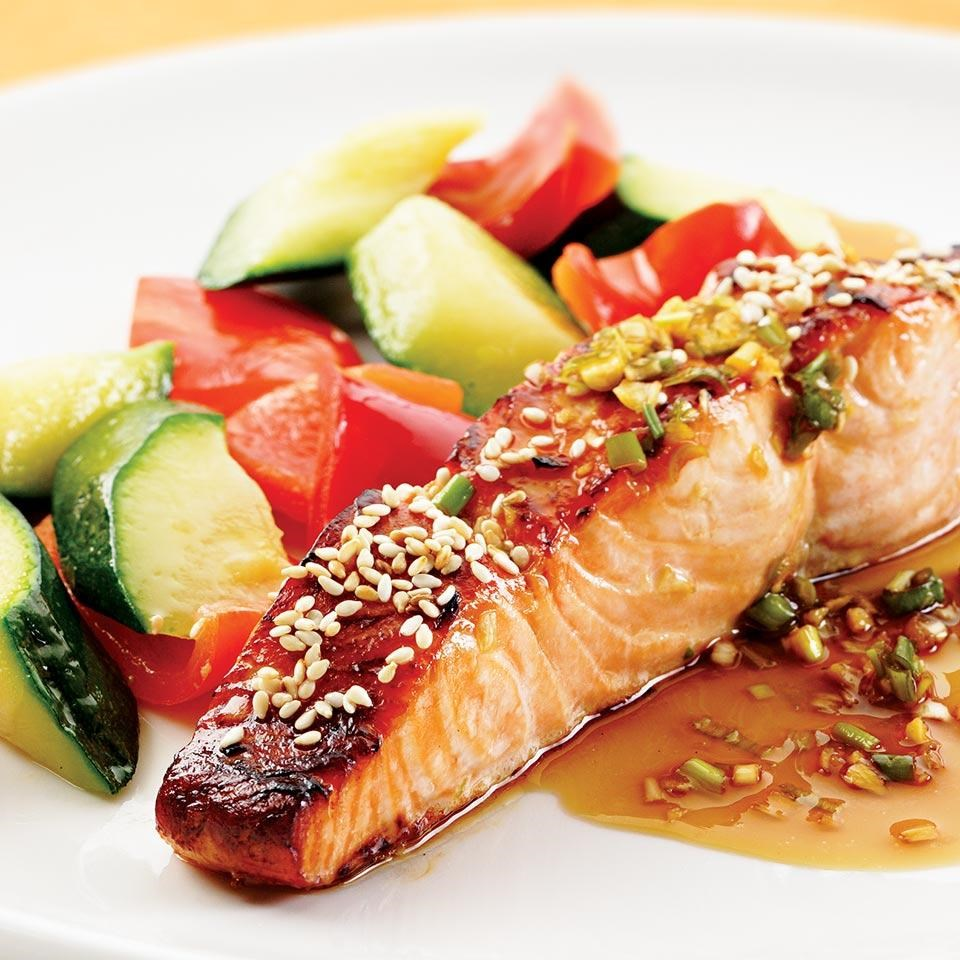 Honey-Soy Broiled Salmon Recipe - EatingWell