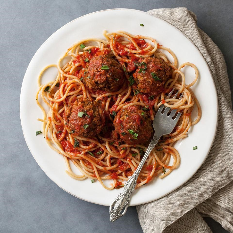 Saucy Vegetarian Meatballs