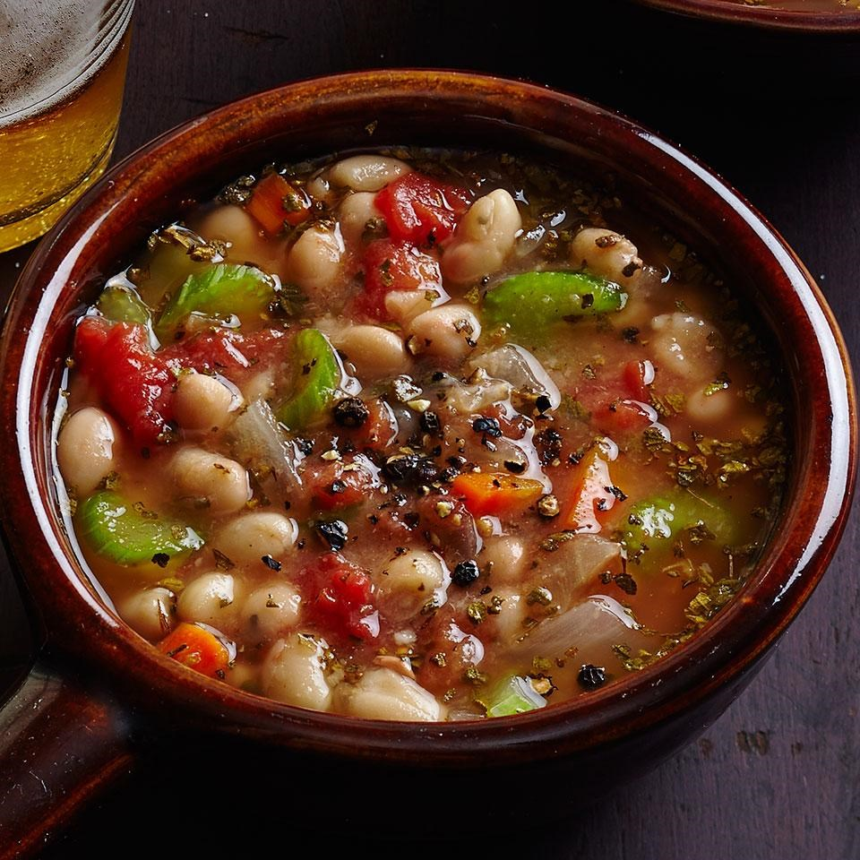 White Bean Soup (Fassoulatha) Recipe - EatingWell
