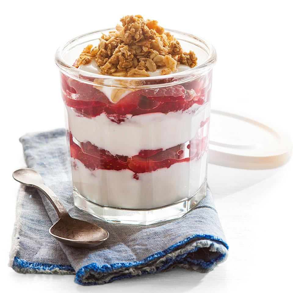Strawberry yogurt parfait recipe eatingwell strawberry yogurt parfait forumfinder Gallery