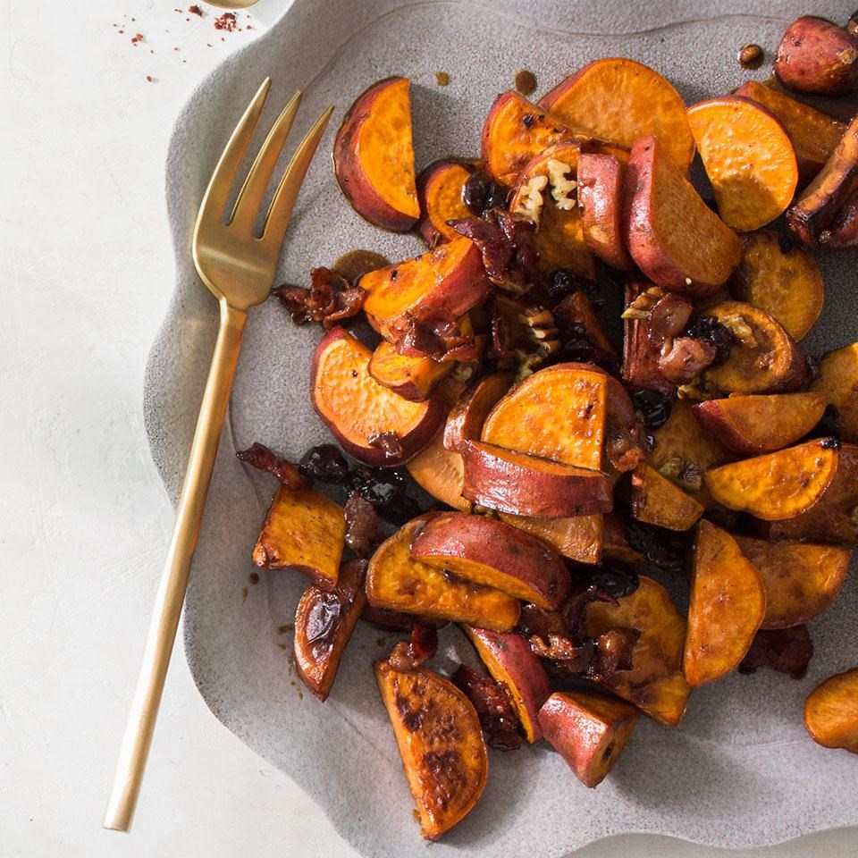 Pan-Roasted Mackerel With Sweet Potatoes Recipe — Dishmaps