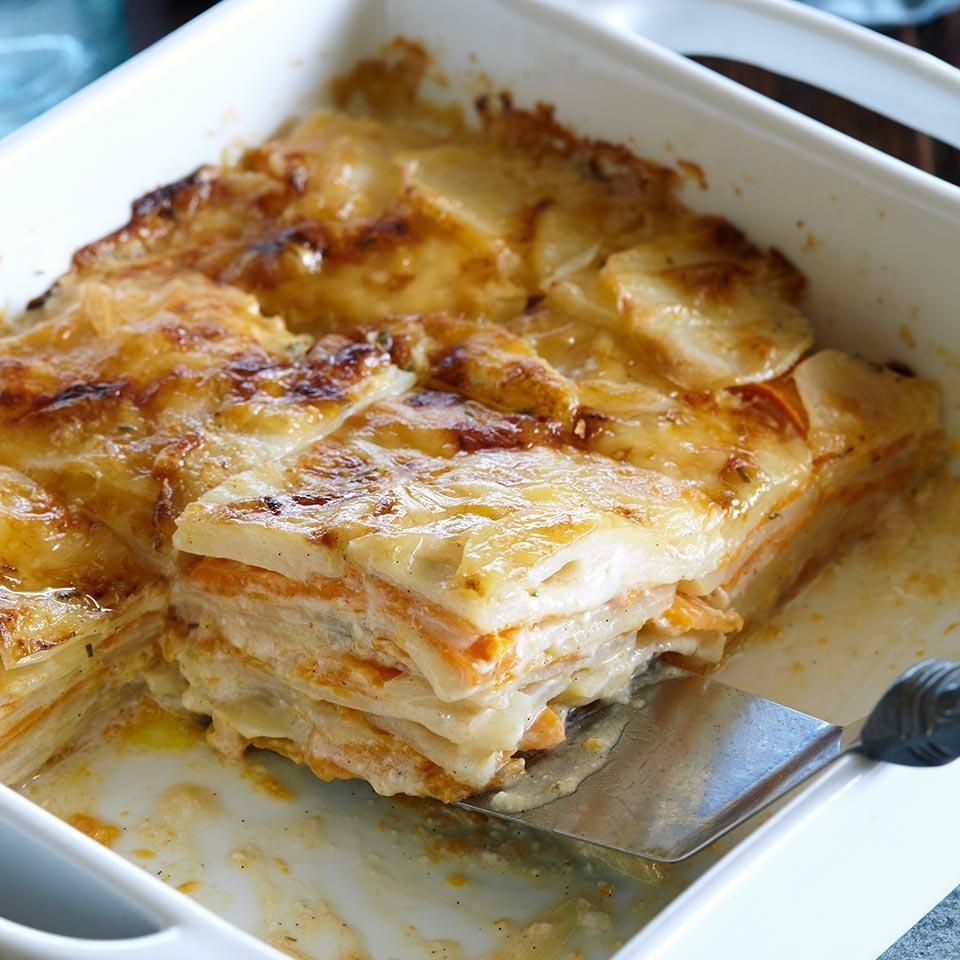 Vanilla-Rosemary Double-Potato Dauphinoise