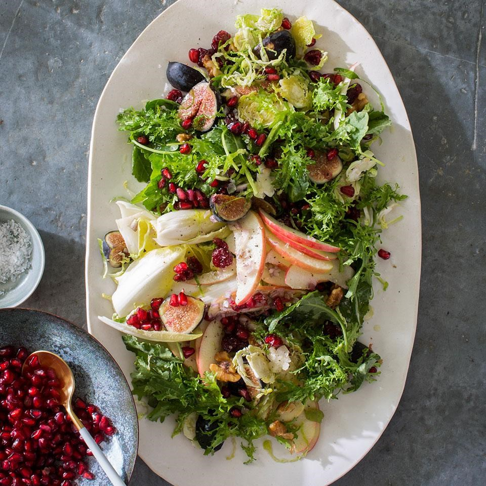 Apple Fig and Brussels Sprouts Salad