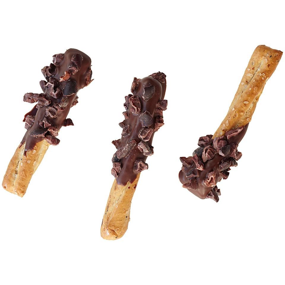 Chocolate-Dipped Pretzels Recipe - EatingWell