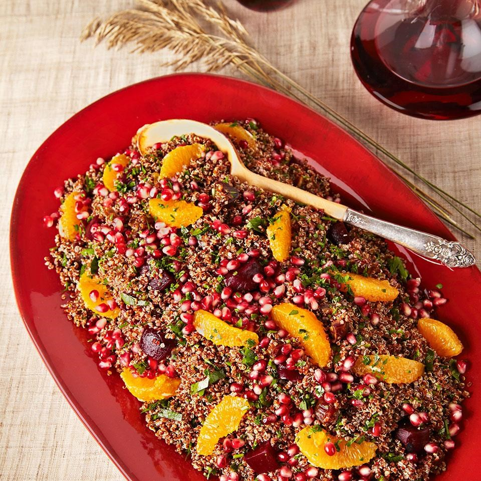 Quinoa Salad with Oranges, Beets & Pomegranate
