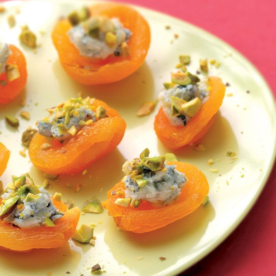Apricot canapes recipe eatingwell for What is a canape appetizer