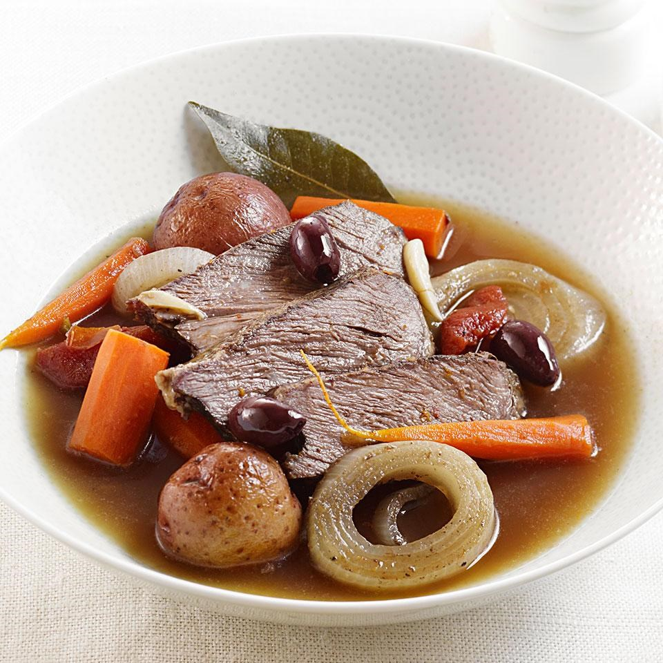Slow-Cooker Orange-Scented Pot Roast with Olives
