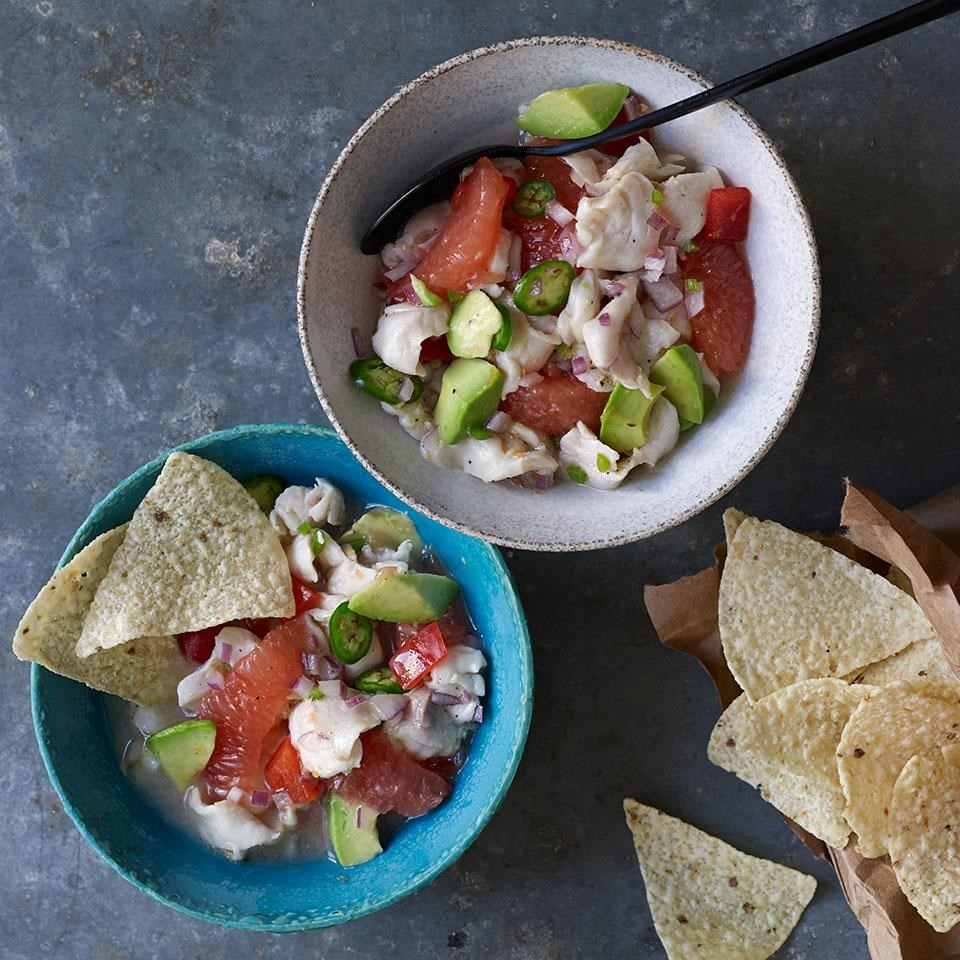 Grapefruit & Red Snapper Ceviche