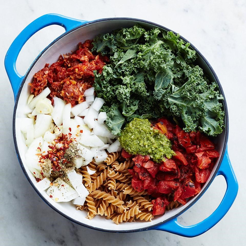 One pot italian sausage kale pasta recipe eatingwell one pot italian sausage kale pasta forumfinder Choice Image