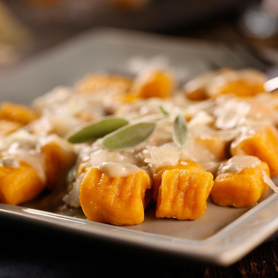 Sweet Potato Gnocchi with Sage Cream Sauce Recipe - EatingWell