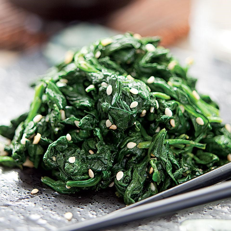 Sesame-Seasoned Spinach Recipe - EatingWell