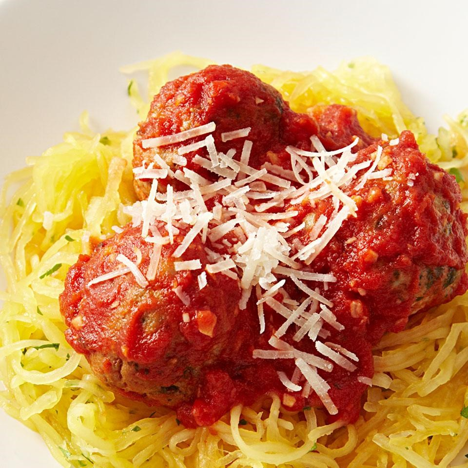 Spaghetti squash meatballs recipe eatingwell for What to make with spaghetti squash