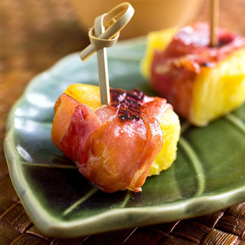 Prosciutto-Wrapped Pineapple Bites