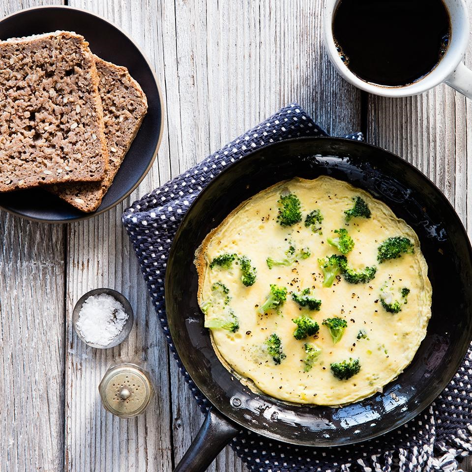 Broccoli & Parmesan Cheese Omelet
