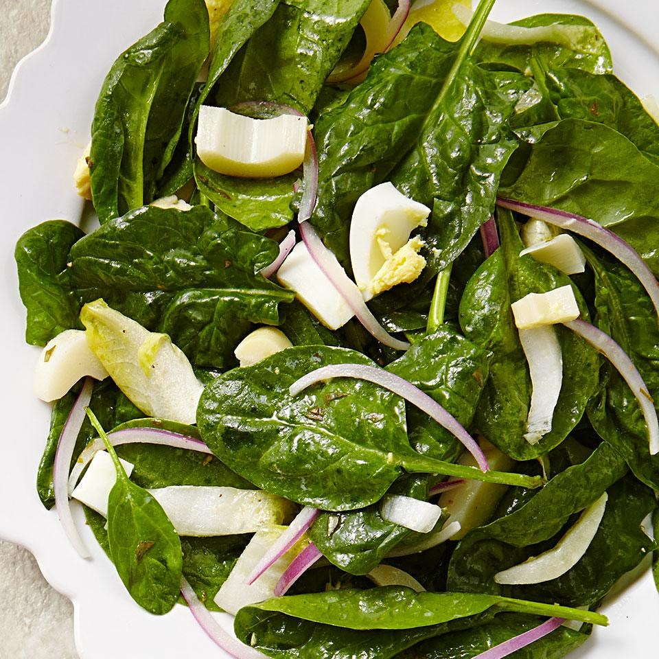 Endive & Spinach Salad with Hearts of Palm