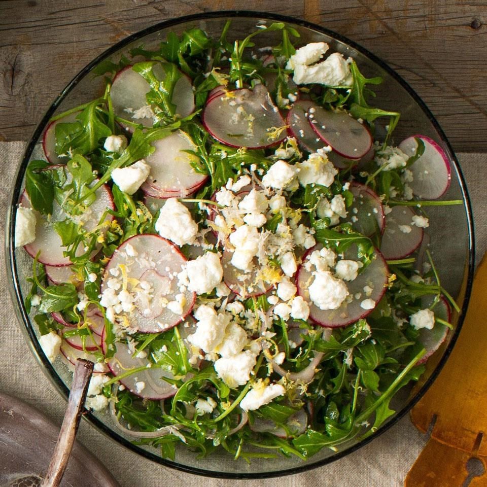 Radish, Herb & Feta Salad with Lemon Vinaigrette