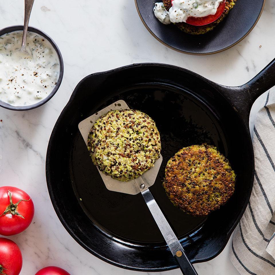 Indian Edamame Quinoa Burgers