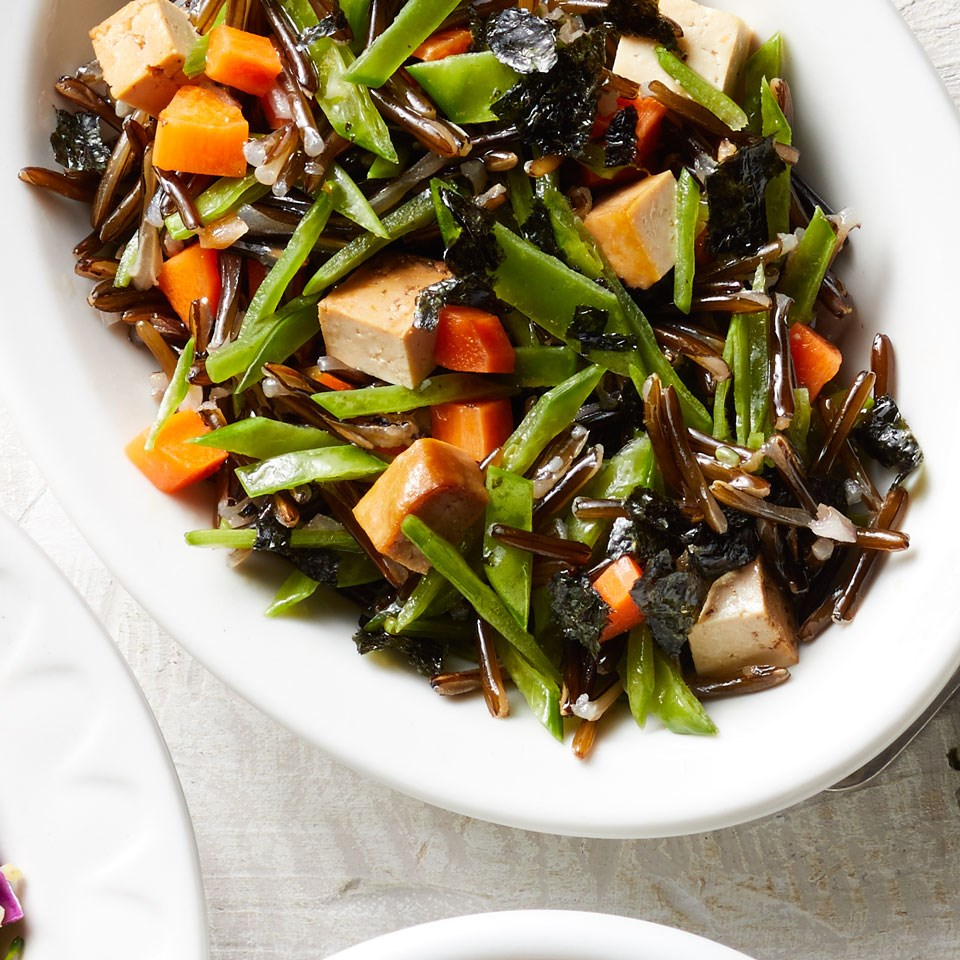 Tofu, Snow Pea & Carrot Wild Rice Salad