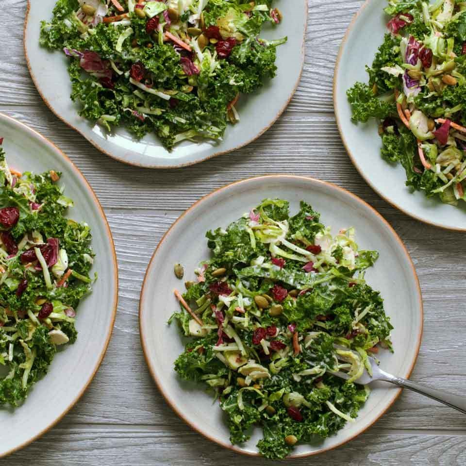 Kale Salad with Creamy Poppy Seed Dressing