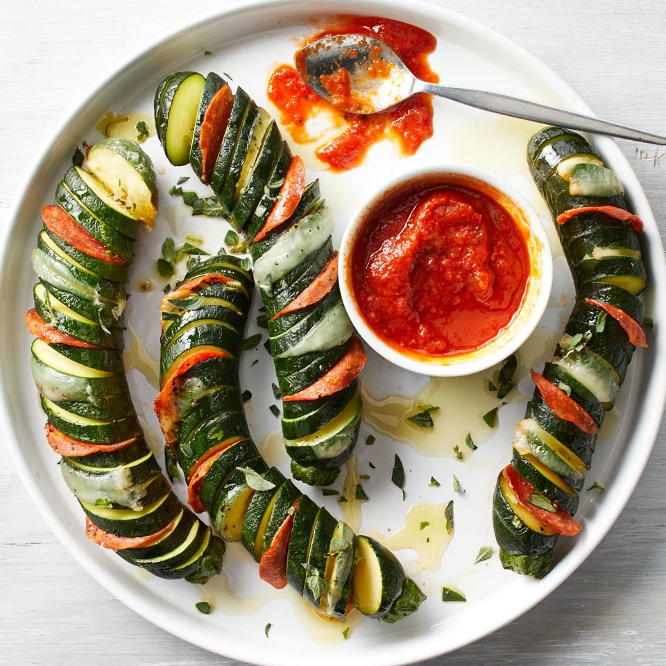 "How to Make Hasselback Zucchini ""Pizzas"""