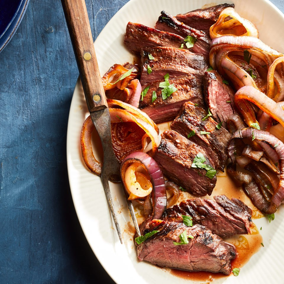 Honey-Paprika-Glazed Steak & Onions