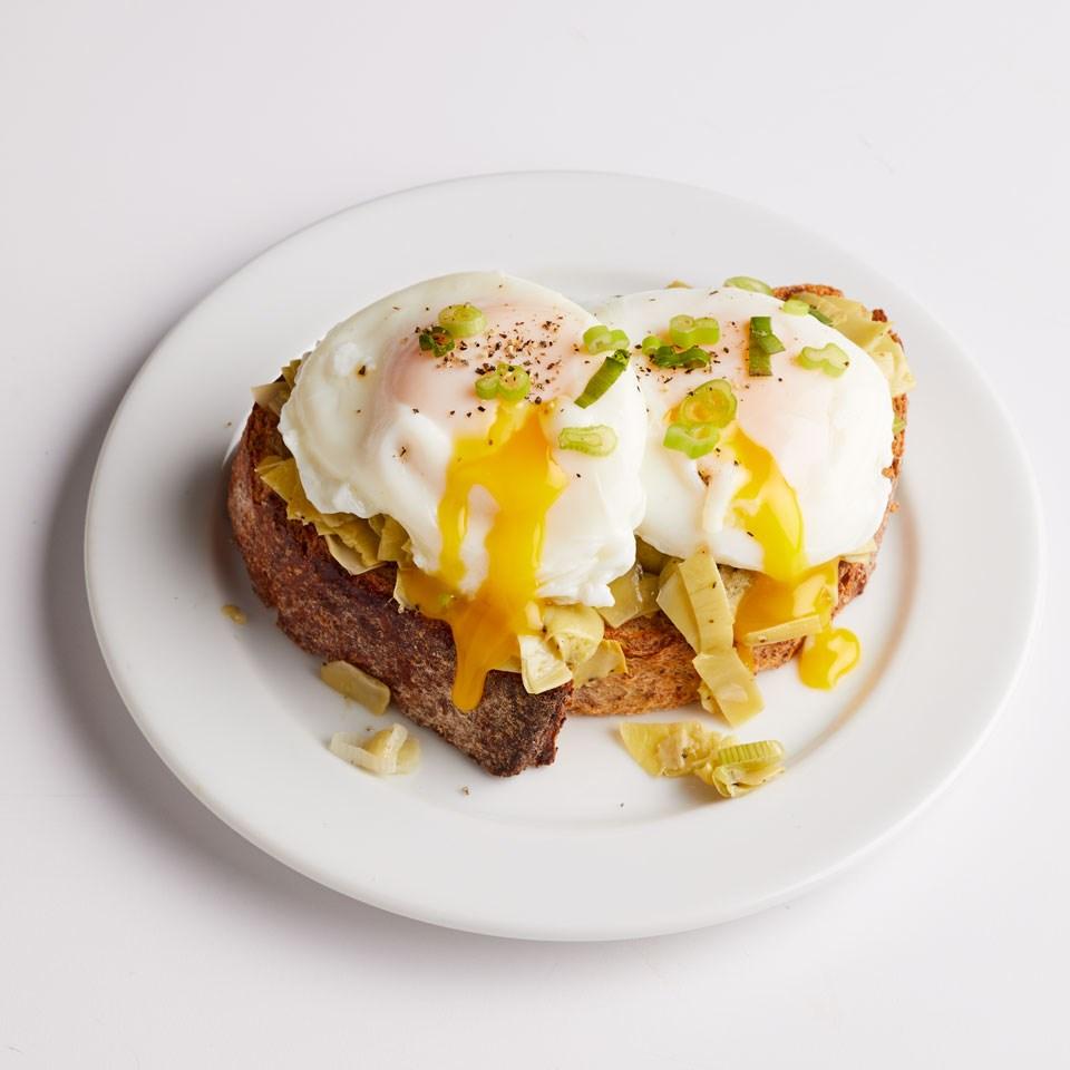 Artichoke & Egg Tartine