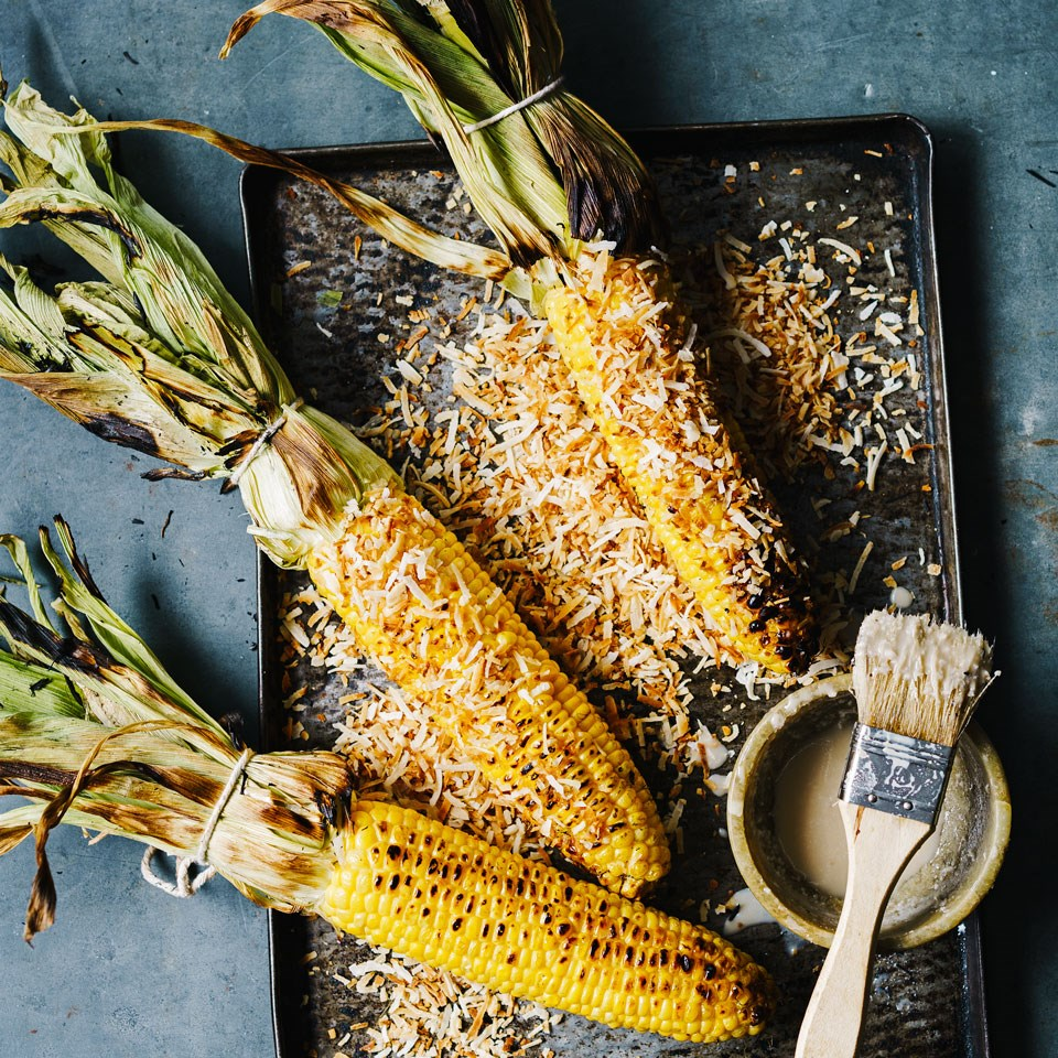 Coconut Grilled Corn Recipe - EatingWell