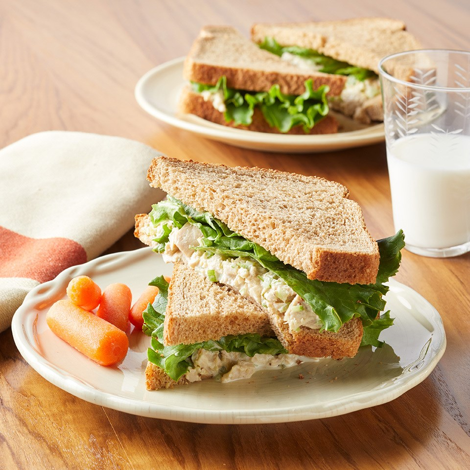 Tuna salad sandwich with sweet relish recipe eatingwell for Recipes with tuna fish
