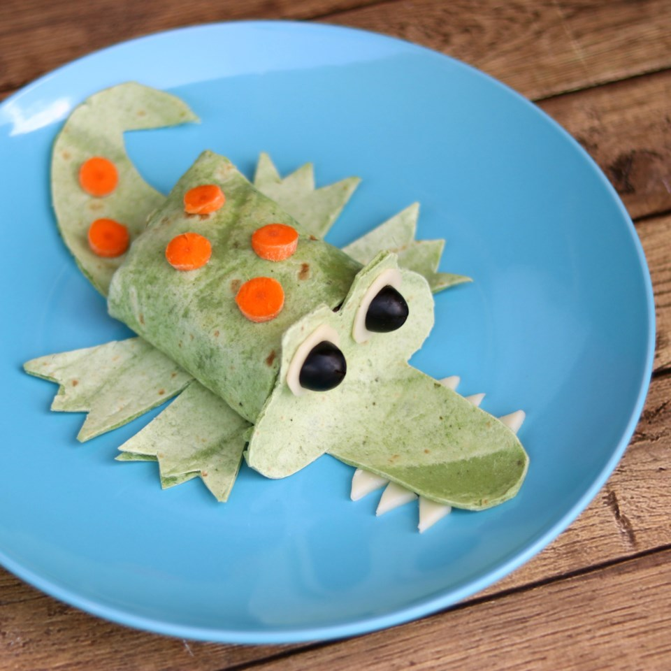 Silly Alligator Spinach Wrap