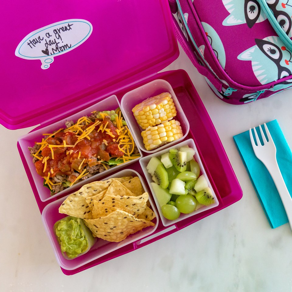 Taco salad bento lunch for kids recipe eatingwell taco salad bento lunch for kids forumfinder Choice Image