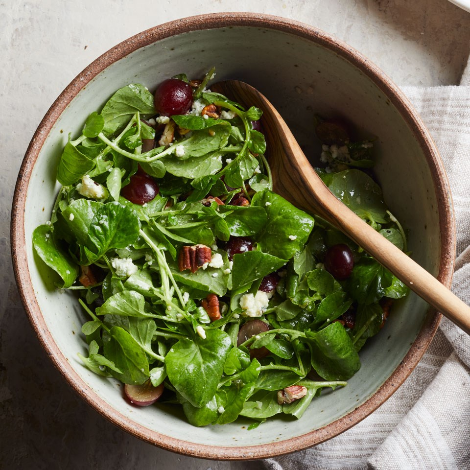 Watercress Salad With Grapes Blue Cheese Amp Pecans Recipe