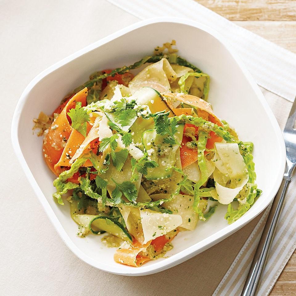 ashew-Cilantro Pesto with Veggie Noodles