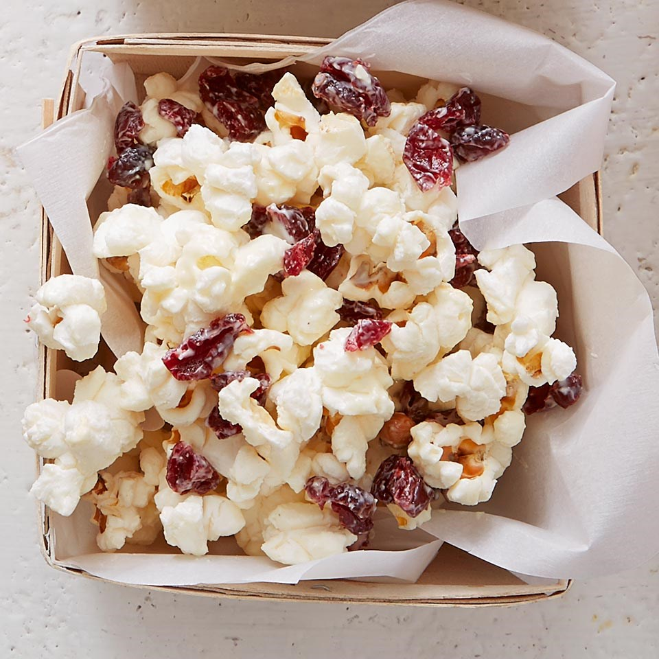 Cranberry White Chocolate Popcorn