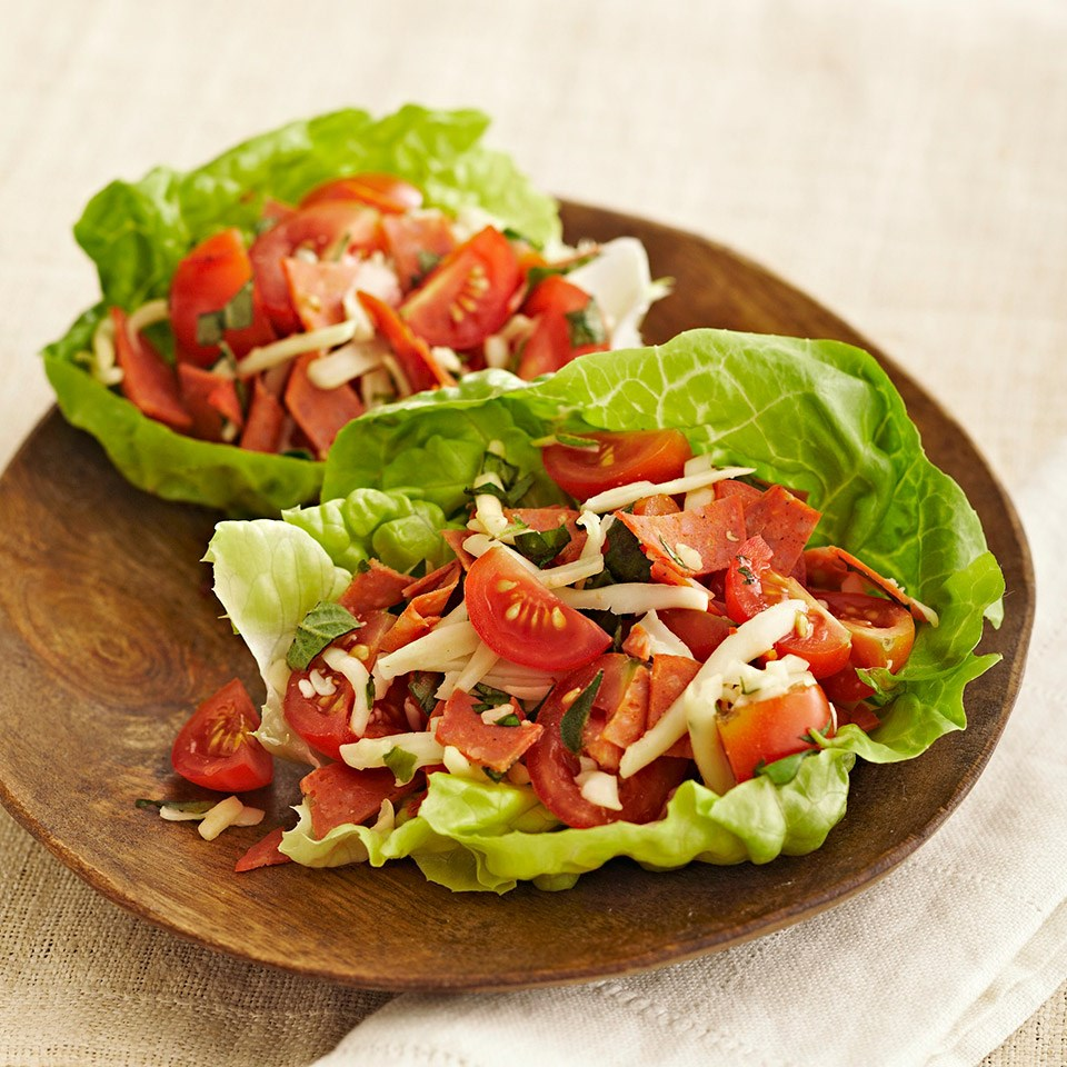 Pizza Lettuce Wraps Recipe Eatingwell