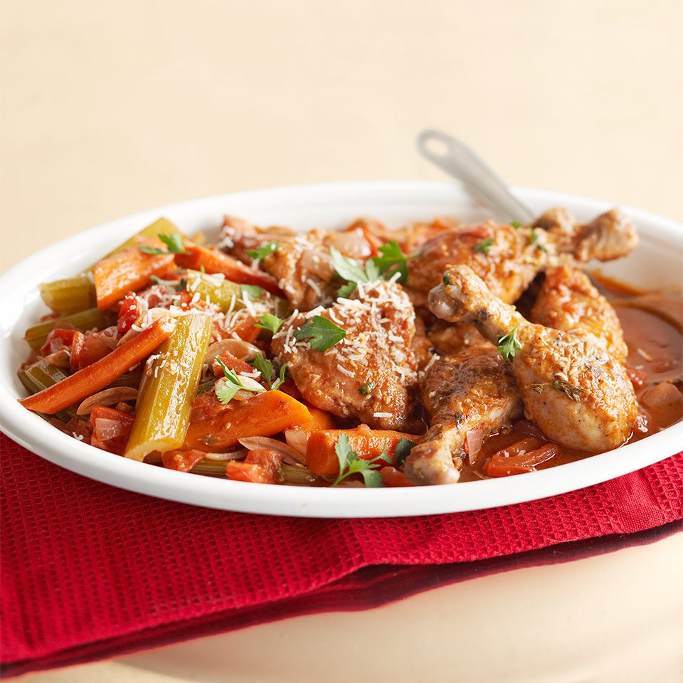 Easy chicken cacciatore recipe eatingwell easy chicken cacciatore forumfinder Images