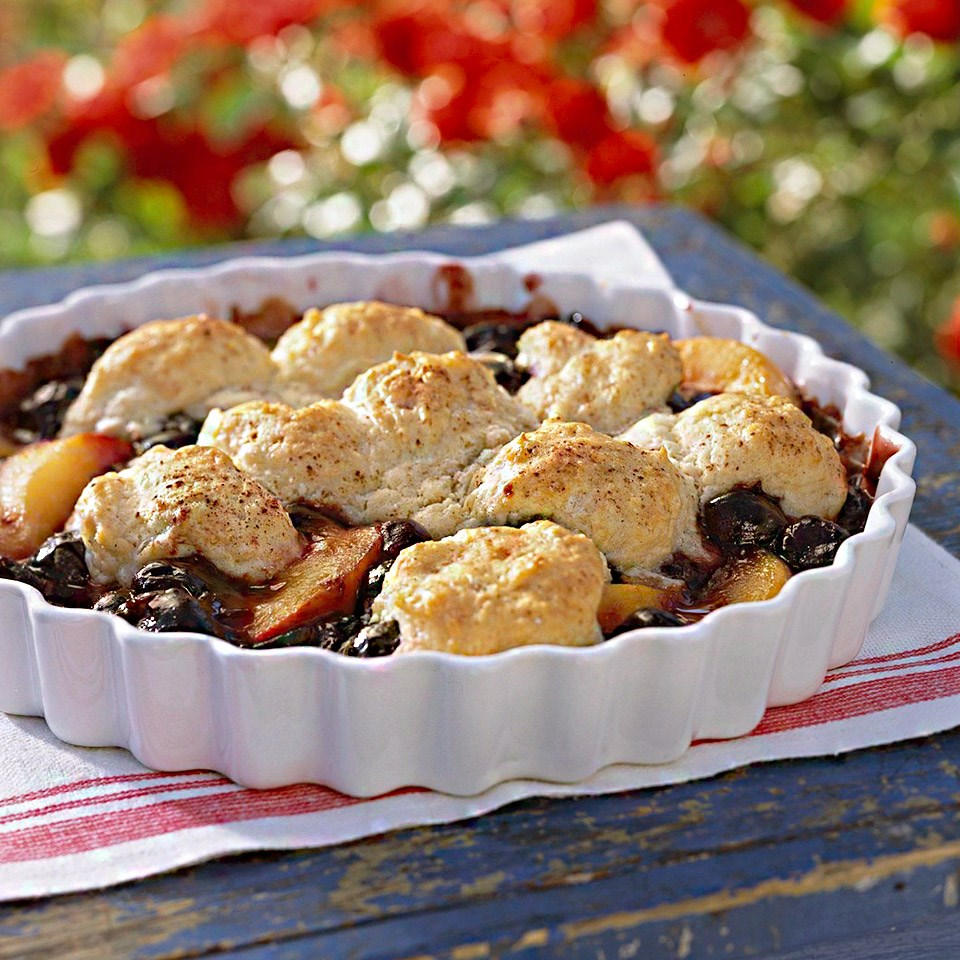 Very Cherry Peach Cobbler
