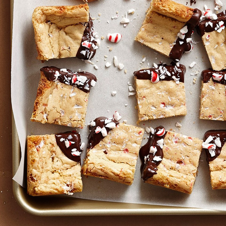 Vanilla Candy Cane Peppermint Bars